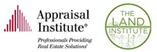 Appraisal Institute logo and The Land Institute logo