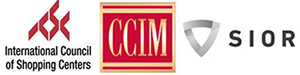 International Council of Shopping Centers, CCIM, and SIOR logos